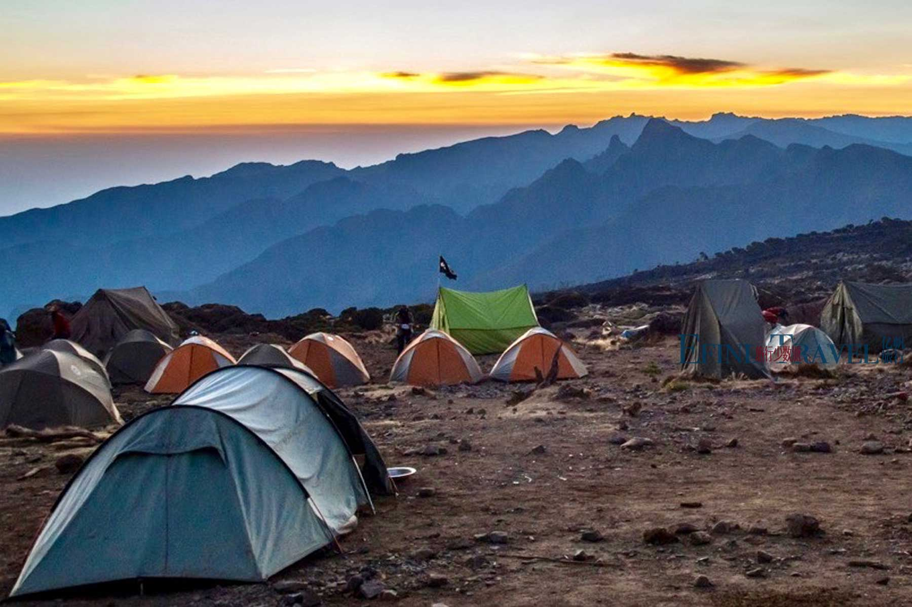 乞力马扎罗登山营地