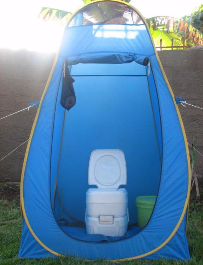 攀登乞力马扎罗山私人马桶帐篷